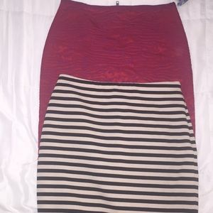 Lot of 2 pencil skirts
